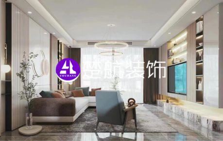 辽宁营口五矿·铂海樾府293平现代风格装修效果图