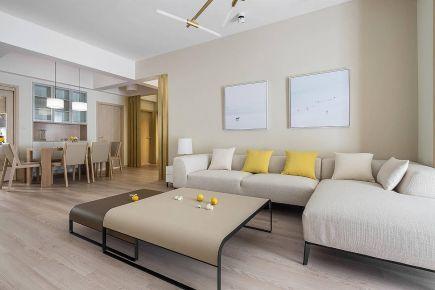 现代简约风格新房装修,暖调温柔舒适,仿佛冬日阳光般温暖
