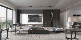 营口楚航营口中天书香庭院151平3室新中式装修设计风格