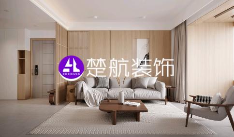 辽宁营口中天·书香庭院136平原木风格装修效果图分享