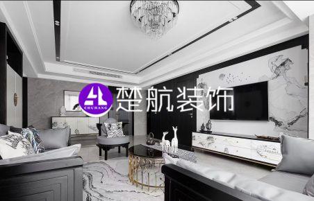 辽宁营口中天·书香庭院142平现代风格装修效果图分享