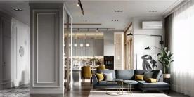 营口楚航中天书香庭院125平3室现代风格装修设计效果图