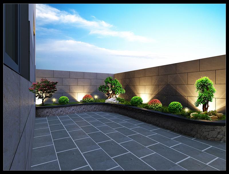 娱乐会所户外景观设计效果图_众易居装修效果图大全