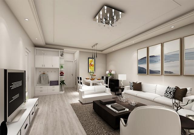 扬州泰富 现代风格小户型装修设计效果图_众易居装修