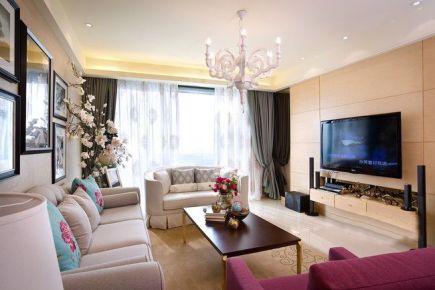 100平米欧式新古典风格优雅三居室