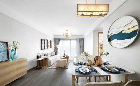90㎡新中式两居室装修效果图