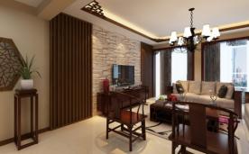 新中式129平三居现代设计