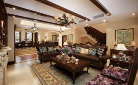 美式古典600平米别墅装修效果图