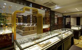 200㎡中式珠宝店 奢华亮丽