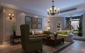 美式135㎡三居装修 休闲与浪漫并存