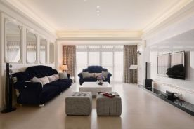 三款色优雅加分的132平新古典三居装修效果图