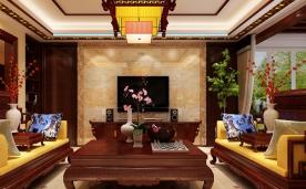 184㎡中式三居设计案例