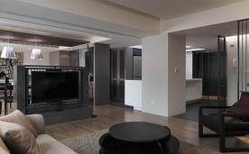 中式黑白灰 124㎡三居装修案例