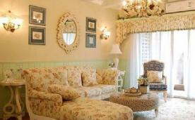 98平小两居户型温馨田园式装修风格欣赏