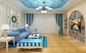 206平三居室地中海装修风格效果展示
