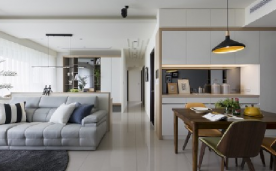 100平简约北欧风格家居装修设计案例欣赏