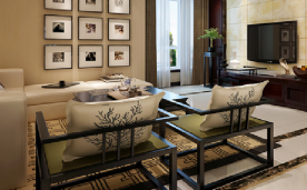 140平新中式 枫叶浮沉 家装设计作品欣赏