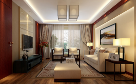105平 红木暖香 新中式风格众易居设计案例展示