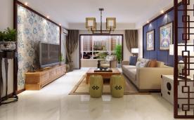138平 新中式青花瓷 风格装修设计效果
