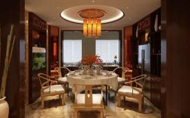 回归中国传统的初衷 260平米小别墅新中式风格装修效果案例示意