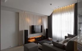 沐光之家 66平小户型现代风格两居 装修效果示意案例