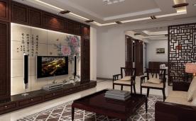 朵朵花开淡墨痕 170平三居室 中式风格之家装修效果案例