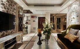 100平米新古典两居 风格装修设计效果案例