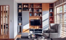波兰单色现代风格单身公寓 家居装修效果案例赏析