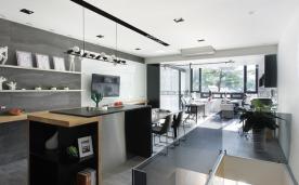 灰色阶office公寓 装修设计效果案例欣赏