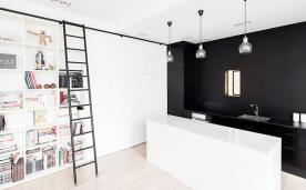 83平黑白简约公寓 83平简约黑白风格装修效果图欣赏