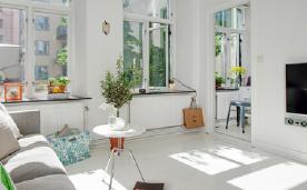 北欧风格简约而性感的一居室装修 北欧一居室简约装修设计效果图赏析