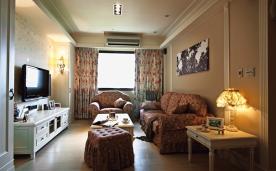 102平唯美乡村古典家居装修 102平古典风格装修设计效果图案例