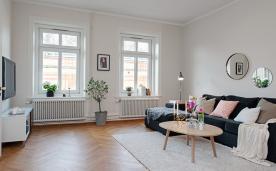 阳光照进白色家 温暖的复古北欧三居装修设计效果图实景欣赏