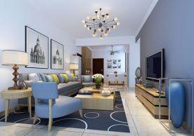 海口绿地城三期装修案例 三居室简约风格装修效果图