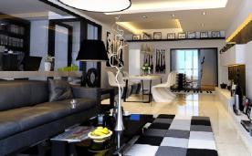 150平米80后黑白时尚婚房设计 150平时尚黑白风格装修效果图欣赏
