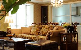 美式平层大宅装修 美式大宅装修设计效果图分享