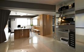 办公室+住家风格装修 现代简约风格装修设计效果图赏析