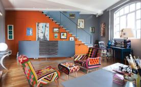 充满颠覆色彩的顶层复式装修 北欧复式风格装修设计效果图欣赏