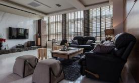 92平米东方禅意两居室装修案例 92平新中式装修设计效果图欣赏