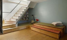 兼顾大人与儿童的142平米混搭风loft复式家装修案例 142平复式混搭风格装修设计效果图欣赏