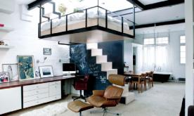 悬空卧室公寓装修案例 创意悬空卧室公寓装修设计效果图欣赏