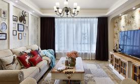 135平简约美式三室二厅装修案例 135平简约美式三居装修设计效果图赏析