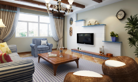 三居室地中海风格装修案例 地中海风格装修设计效果图赏析