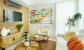 现代简约中又带点田园气息的唯美两居装修案例 现代田园风格装修设计实景欣赏