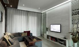 跃层公寓《荷韵》装修设计案例 跃层公寓效果图欣赏