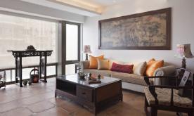 中式典藏三居风雅意境装修设计案例 中式风格效果图欣赏