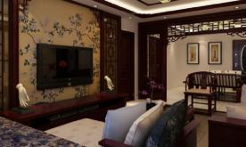 中式古典三居室装修设计案例 中式古典效果图赏析