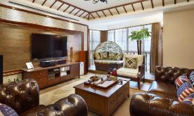 181平东南亚风四室两厅装修设计案例 东南亚风格效果图欣赏
