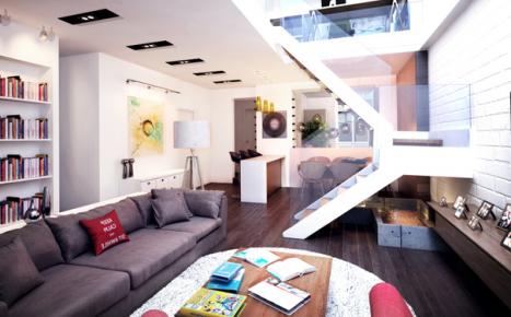 180平 顶层复式多彩生活家居装修效果案例