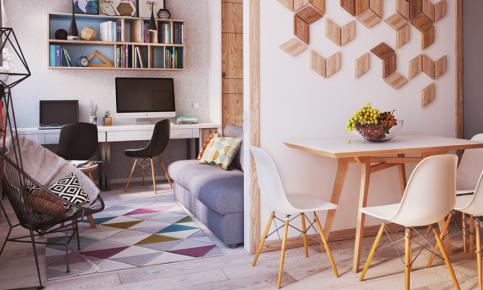 现代简约风格单身公寓装修设计案例 现代简约风格单身公寓效果图欣赏